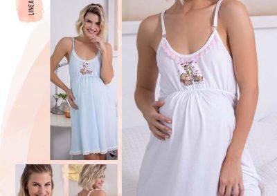 Bianca 20451 Camison maternal. Talles 1 al 4. Colores blanco-rosa-celeste $ 559.99