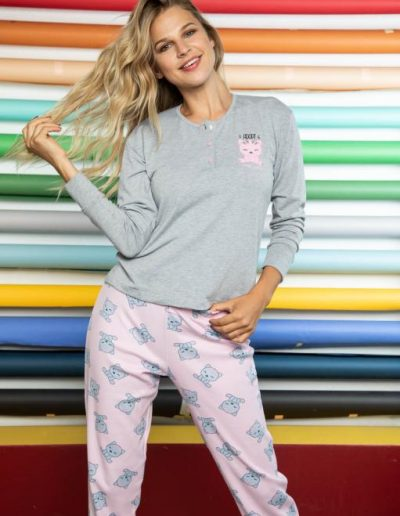 Art. 21116 Pijama juvenil combinado. Pantalon de interlok. Talles 2 -3 y 4 $ 1449.99