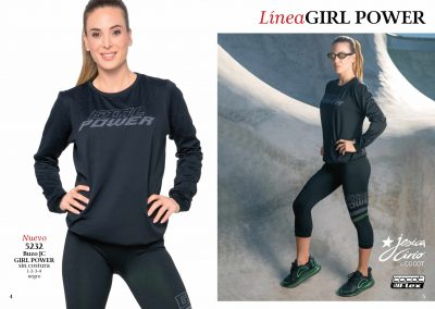 ART. 5232 – Buzo JC Girl Power sin costura T: 1 al 4 C: Negro |