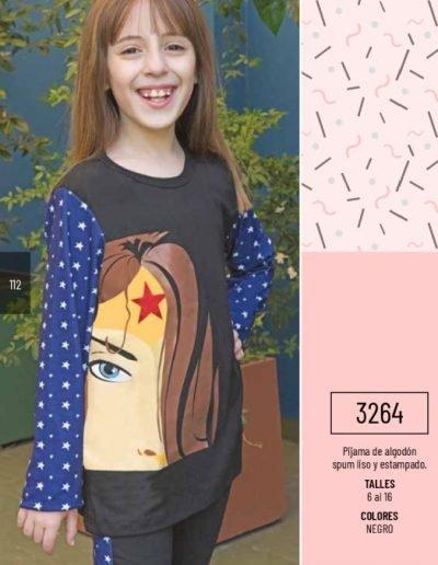 Art. 3264 Pijama nena spum liso y estampado. Talles 6 al 16 $ 962.75